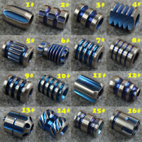 Titanium Lanyard Bead Knife Beads EDC Pocket Tool Paracord Beads (Blue & Silver)