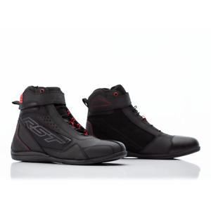RST FRONTIER Men's CE Microfibre Motorbike Short Ankle Black/Red Summer Boots