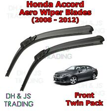 (08-12) Honda Accord Aero Wiper Blades / Front Flat Blade Wipers Saloon Coupe