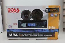 "Boss Audio 658CK In-Dash W/ Pair 6.5"" 2-Way 240W Full Range Audio Speaker System"
