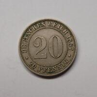 Kaiserreich 1887 A 20 Pfennig kleiner Adler (Fok19/2