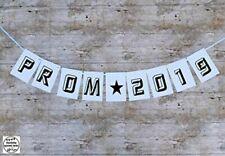 PROM 2019 Banner / BLACK Bunting / party decorations. WATERPROOF indoor outdoor