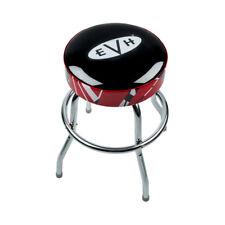 "Evh Eddie Van Halen 24"" Barstool, Red, Black, White Striped w/ Evh Logo"