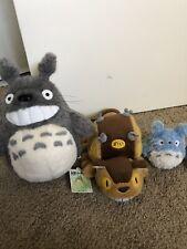 My Neighbor Totoro Plush Set Of 3 Authentic Studio Ghibli