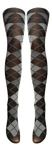 Scottish Argyle / Tartan Print Tights Available In 3 Styles (Made In Italy)