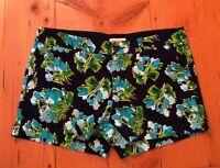Merona Womens Size 8 Blue Floral Shorts
