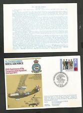 ROYAL AIR FORCE 20 230 SQUADRON 60TH ANNIV FORMATION APR 15,1973  FLOWN ON