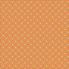 Organic Cotton Fabric, 'Sparks Orange, Lisbon Square' Cloud9 Quilters Cotton