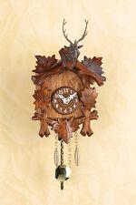Horloge forêt-noire avec Tête de cerf Horloge à pendule Cadran de bois