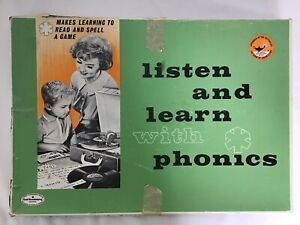 Vintage 1960's Listen & Learn w/Phonics Good Housekeeping Set Game
