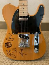 """Signed by """"AV band"""" Butterscotch Blonde Fender Squier Telecaster Electric Guitar"""