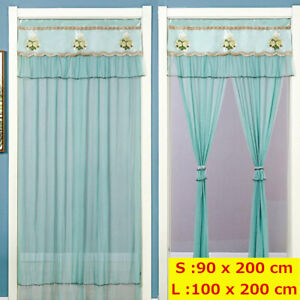 Double Layer Lace Door Curtain Household Anti-mosquito and Fly Lace Curtain Neww