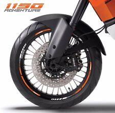 1190 Adventure motorcycle wheel decals stickers rim stripes 19 17'' orange
