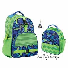 Stephen Joseph Boys Shark Backpack and Lunch Box with Zipper Pull - School Bags