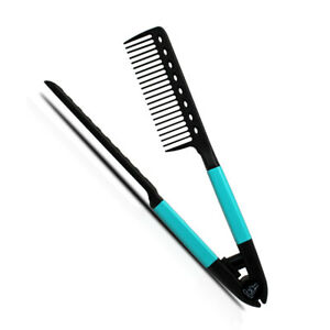 Karma Beauty V Comb with a Firm Grip For Quick & Easy Styling - Turquoise