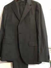 VESTIMENTA Men's Suit ** 40S Dark Charcoal Gray 100% Wool ** Pants Size 34x31,5