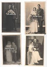 4 Original Hochzeit Portrait Fotos / Ordenspange / Heeres Offiziersdolch 2. WK