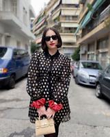 ZARA BLACK GOLD METALLIC THREAD SHIRT DRESS BLOGGERS SIZE XL