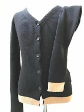 Authentic DOLCE GABBANA D&G Long Sleeve Ribbed Knit Wool CARDIGAN Sweater 38/XS