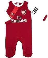 Arsenal FC Babygrow Sleepsuit Baby Football Kit 9/12 Mths WT