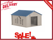 Dog House With Letter Name for Medium and Large Breeds Indoor Outdoor Tan Blue