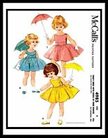 McCall's 4985 DRESS FROCK BABY GIRL Sewing Pattern Choose 1-4-5-6 Toddler 1950's