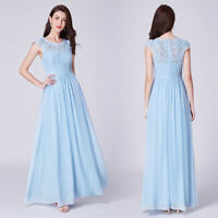 US Ever-Pretty Lace Long Chiffon Bridemaid Dresses A-line Prom Party Gowns 07364