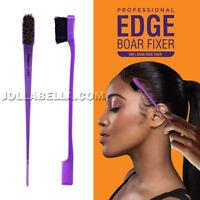Kiss Edge 100% Boar Fixer Bristle Hair Brush Double Sided Comb Control *1PC