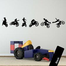 OFFROAD MOTOCROSS JUMP WALL STICKERS 3D ART MURAL POSTERS OFFICE SHOP DECOR UV7