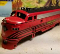 LEHIGH VALLEY F7A #578  COMPLETE SHELL  ATHEARN BLUE BOX HO