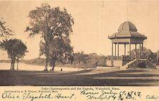 Wakefield Massachusetts 1909 Postcard Lake Quannapowitt and the Pagoda