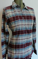 Woolrich Pemberton Flannel Shirt NWT Blue Plaid 100% Cotton Size M