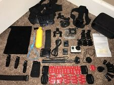 GoPro 3+ Silver Edition Camera CHDHN-302 Hero+32GB Card+ Lot of New Extras (361)