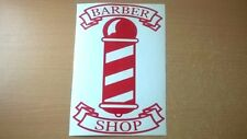 barbers pole shop front window door salon red vinyl graphic sticker wall art