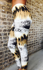 Mixed Animal Print, Snake Skin, Super Soft & Stretchy Leggings