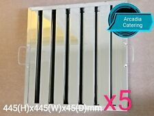 5xLOBO Heavy Duty Stainless Steel Canopy Extraction Grease Baffle Filter 445x445