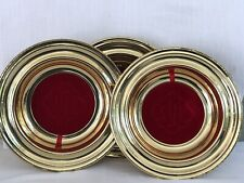 New listing Cokesbury Offering Plates 12� Gold tone With Interchangeable Inserts