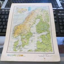 Vintage 1962 RPR Communist Romania School Atlas pages European Countries
