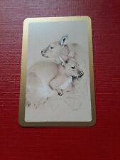 playing cards swap,One card , Australian, Two kangaroos.