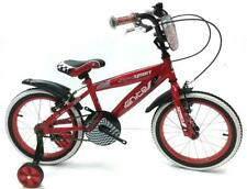"IGNITE 16"" TEAM SPIRIT BOYS BIKE WITH STABILISERS RED"