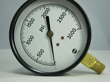 "Pressure Gauge 87820 P300 3 1/2"" 3000 PSI 1/4"" LMC"
