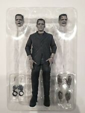 NECA Universal Monsters Frankenstein used complete with box black and white