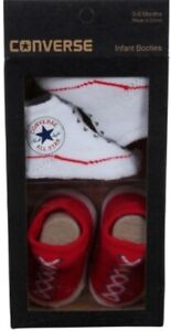 Converse All Star Baby Chucks Rot Weiß Socken 0-6 Monate Baby Geschenkpackung