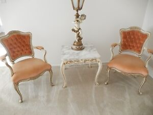 FRENCH PROVINCIAL2 PIECE  ARMCHAIRS - THIS ITEM IS PICKUP ONLY
