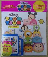 Disney Tsum Tsum ~ Panini Sticker Collection ~ Starter Album & 31 Stickers