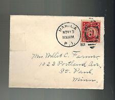 1906 Manila Philippines Mini Cover to USA