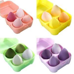 4pcs/Set Beauty Foundations Make-Up Puff Blender Sponge EggShape Teardrop I5E8