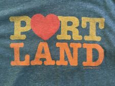Vtg PORTLAND T-Shirt LARGE L LITTLE BAY ROOT Oregon Portlandia Heart Love Tee