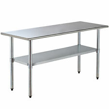 "72"" x 30"" Stainless Steel Work Prep Table Commercial Kitchen Restaurant Table"