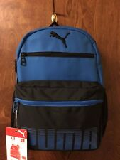 "Puma 16"" Kids Backpack Blue/Black (Organizer/Bottle storage/laptop sleeve)"